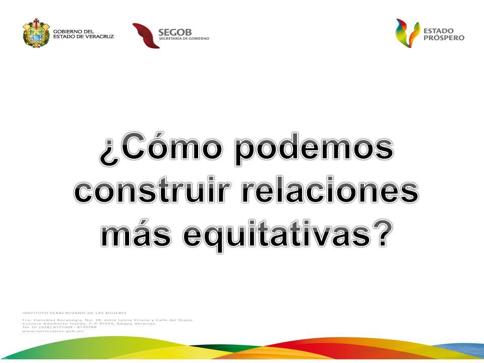 ¿Cómo podemos construir relaciones más equitativas