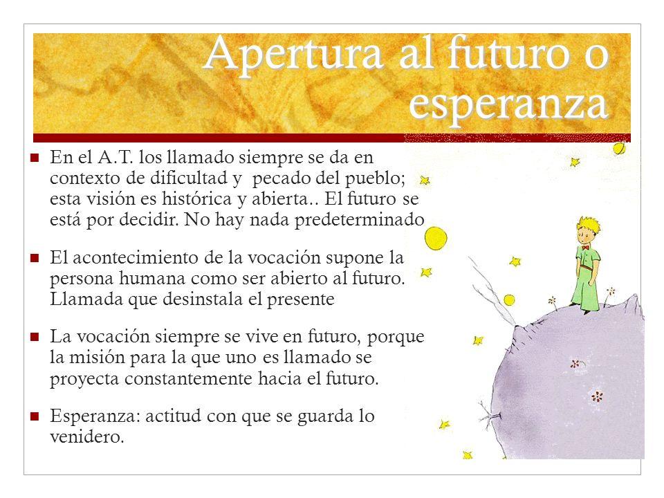 Apertura al futuro o esperanza