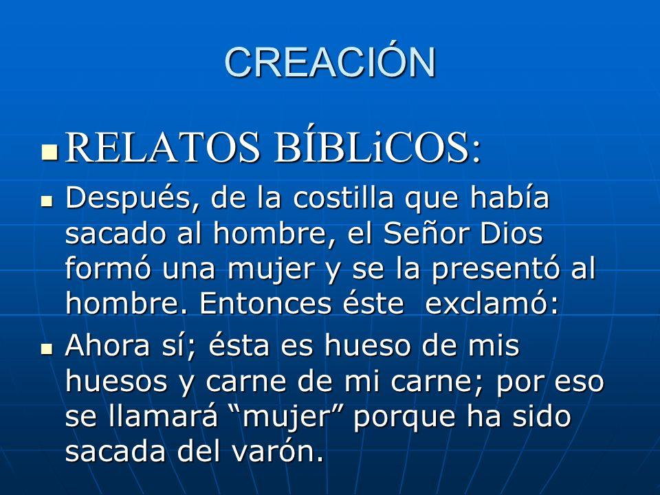 RELATOS BÍBLiCOS: CREACIÓN