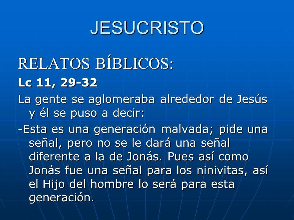 JESUCRISTO RELATOS BÍBLICOS: Lc 11, 29-32