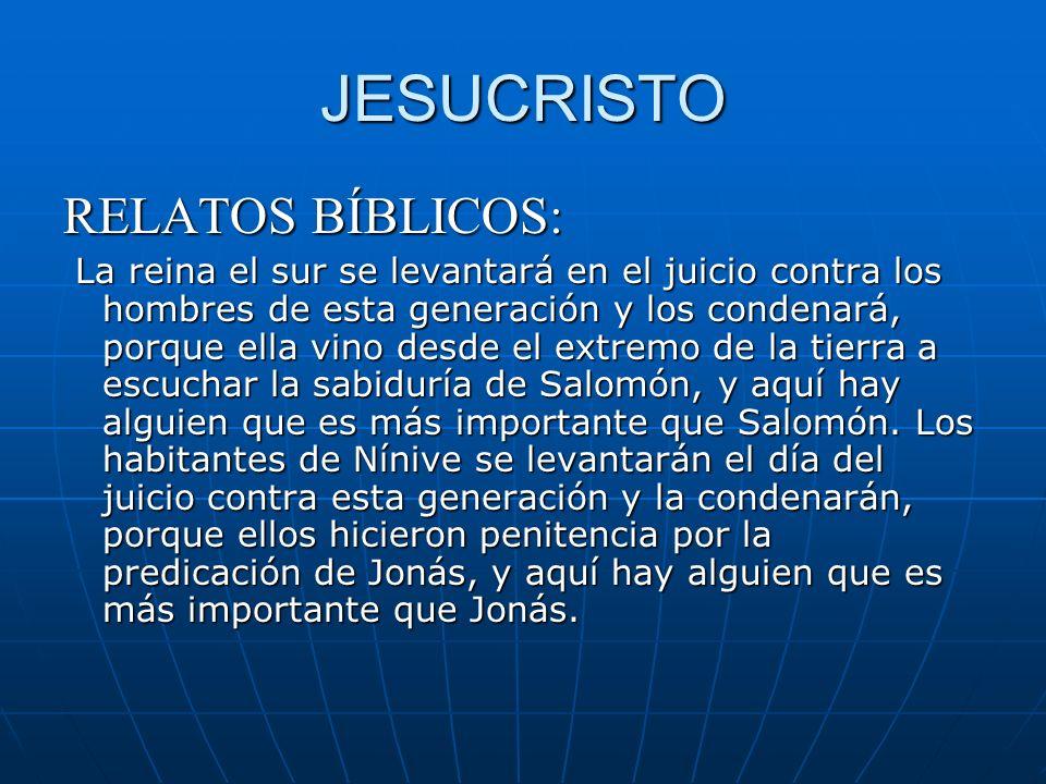 JESUCRISTO RELATOS BÍBLICOS: