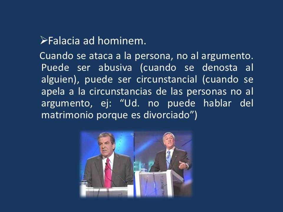 Falacia ad hominem.
