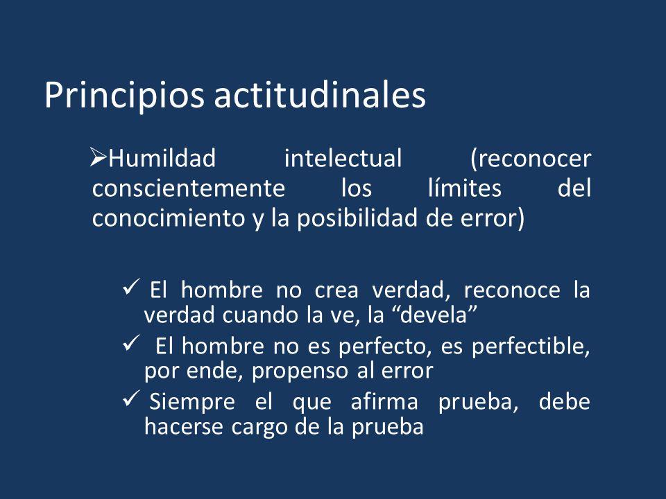 Principios actitudinales