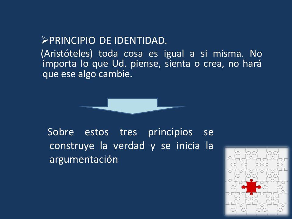 PRINCIPIO DE IDENTIDAD.