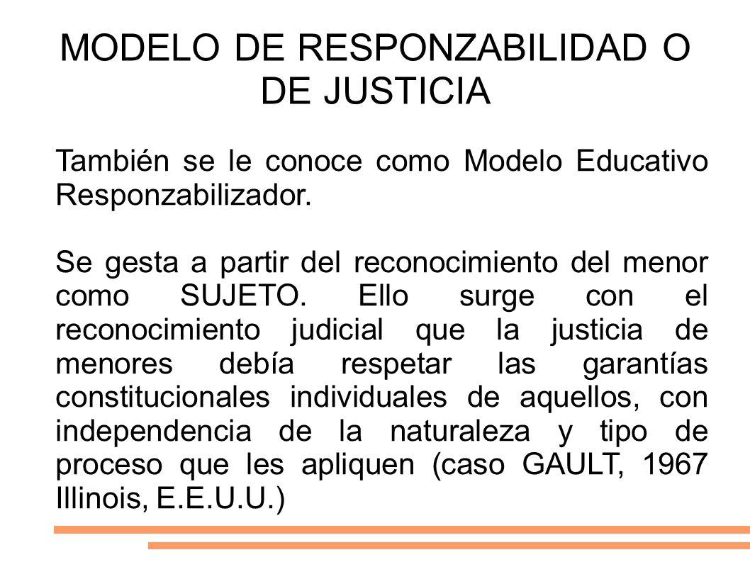 MODELO DE RESPONZABILIDAD O DE JUSTICIA