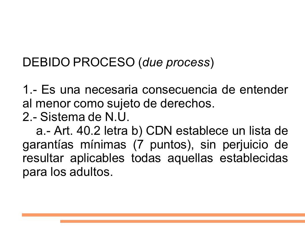 DEBIDO PROCESO (due process)