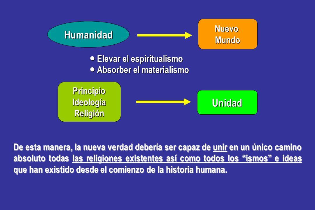 Humanidad Unidad Nuevo Mundo ● Elevar el espiritualismo