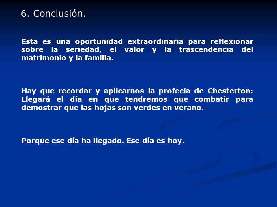 6. Conclusión.