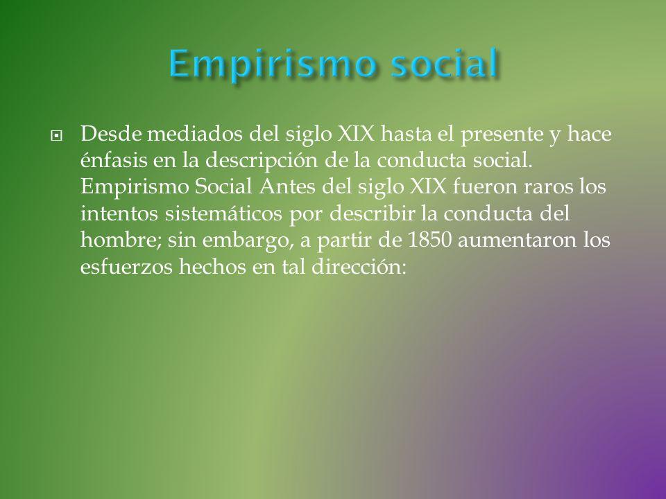 Empirismo social
