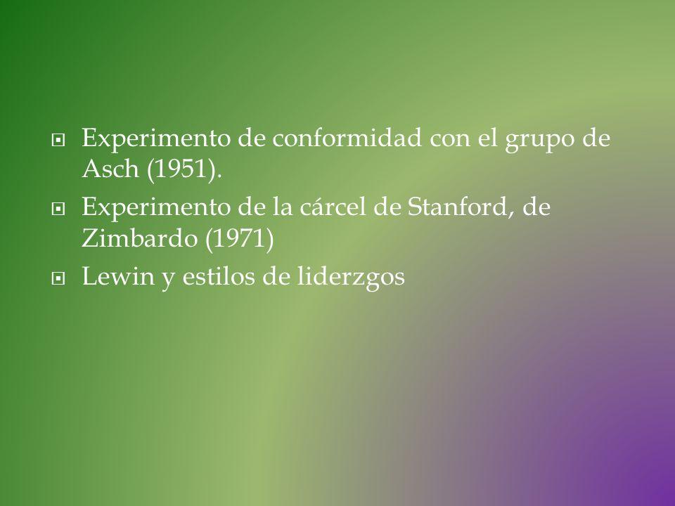 Experimento de conformidad con el grupo de Asch (1951).