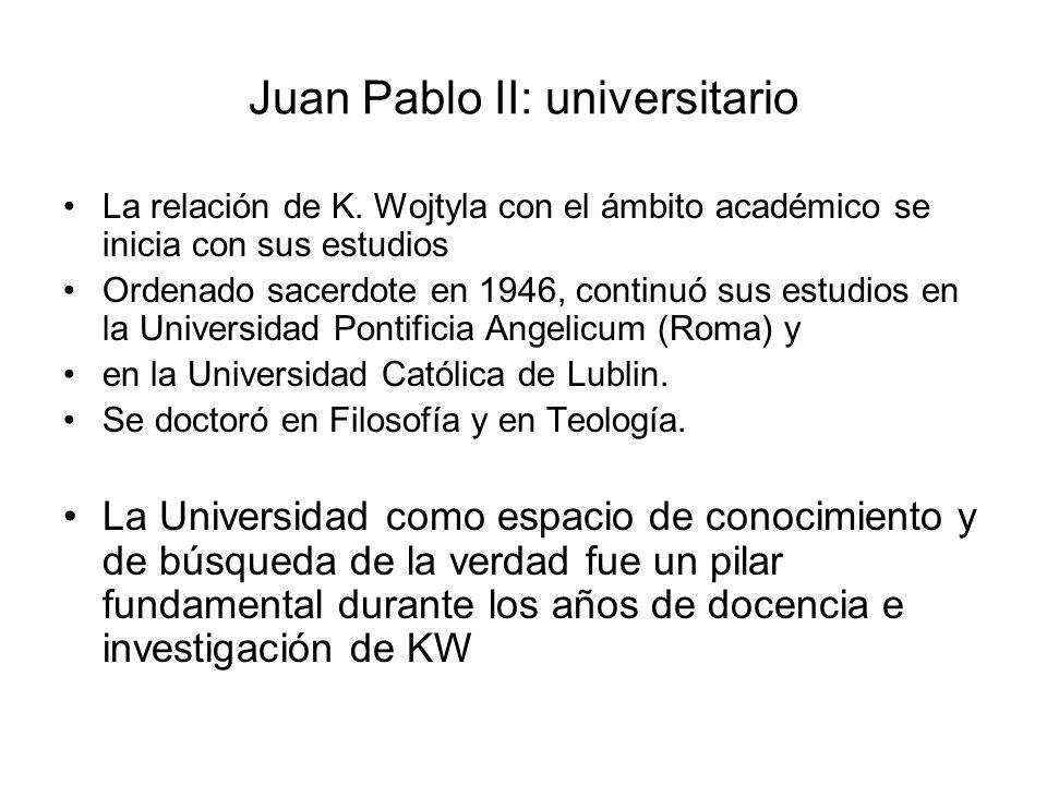 Juan Pablo II: universitario