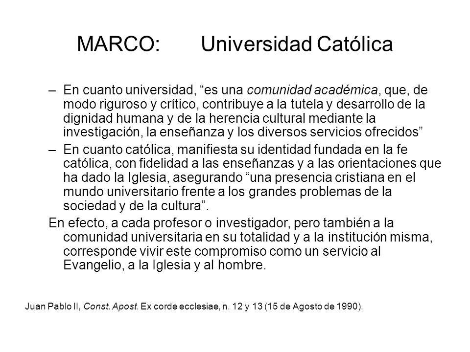 MARCO: Universidad Católica