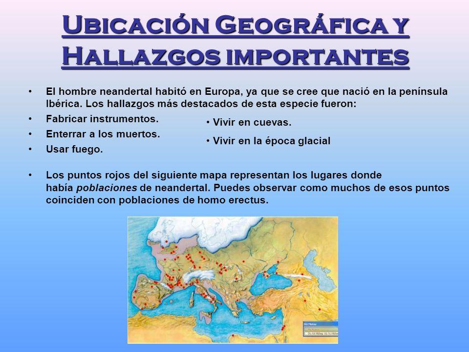 Ubicación Geográfica y Hallazgos importantes