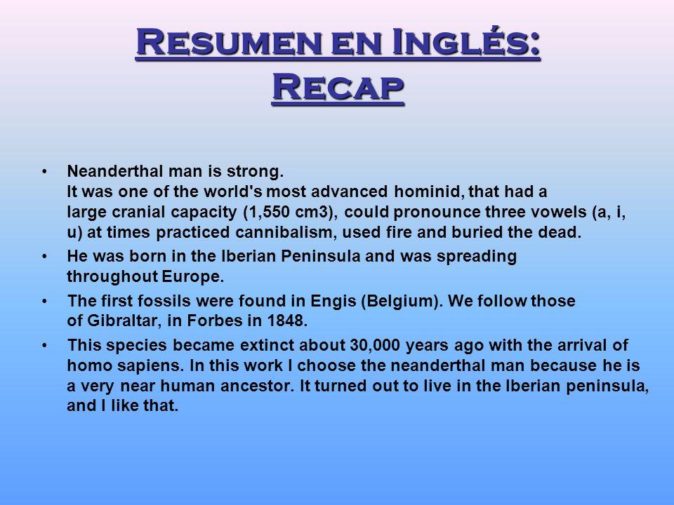 Resumen en Inglés: Recap