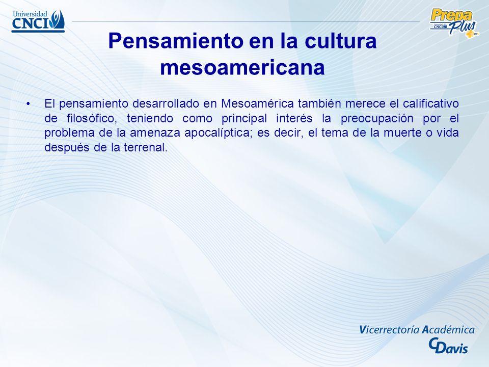 Pensamiento en la cultura mesoamericana