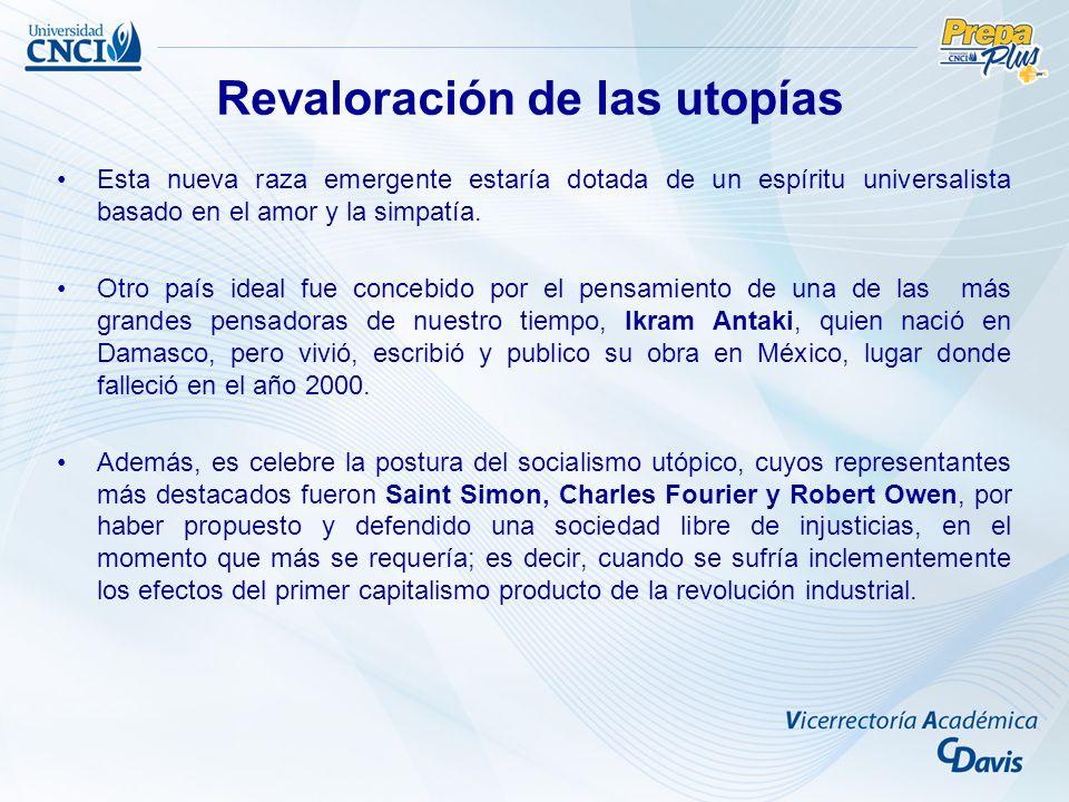 Revaloración de las utopías