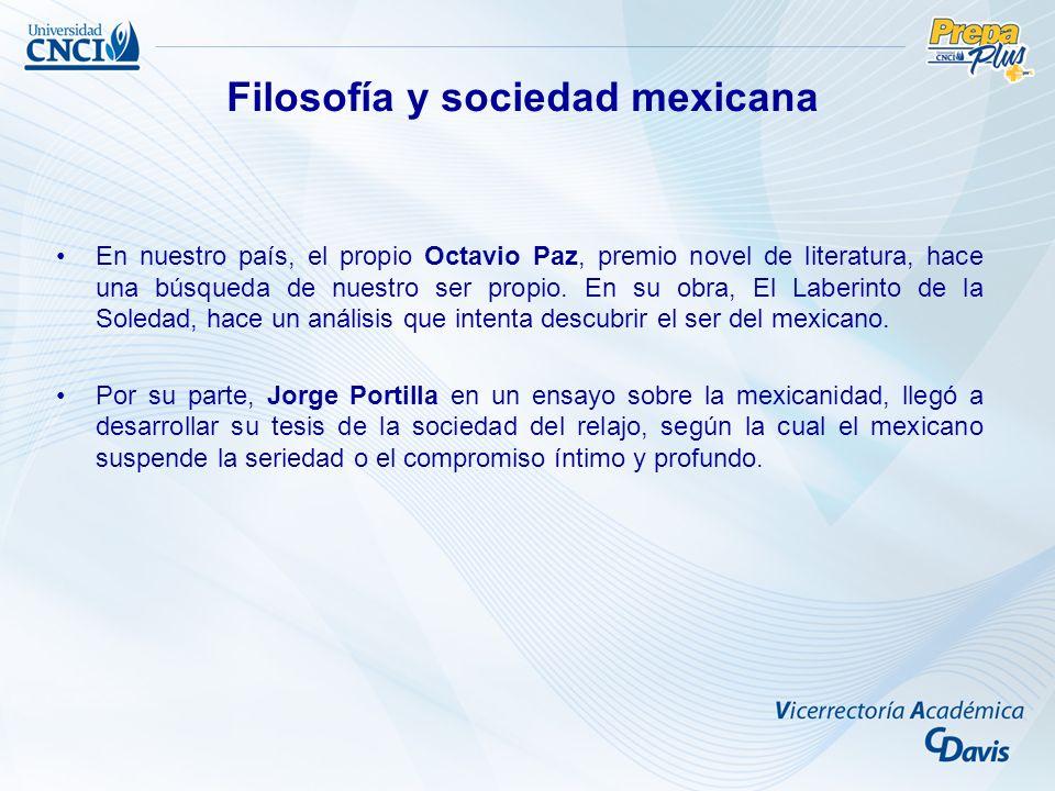 Filosofía y sociedad mexicana
