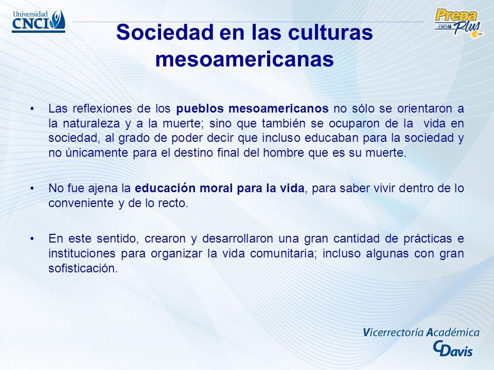 Sociedad en las culturas mesoamericanas