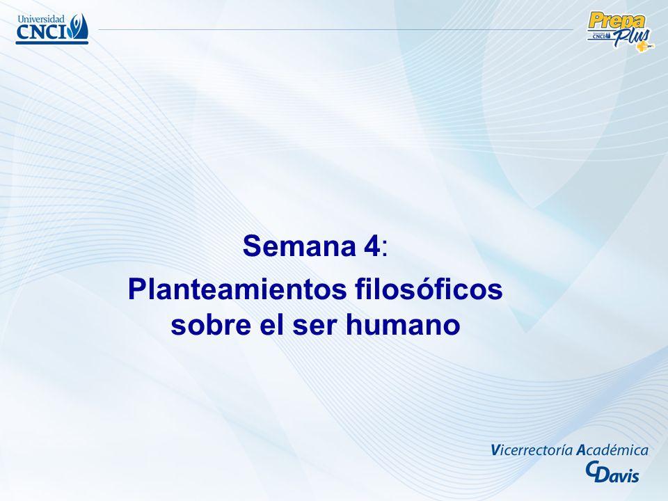 Planteamientos filosóficos sobre el ser humano