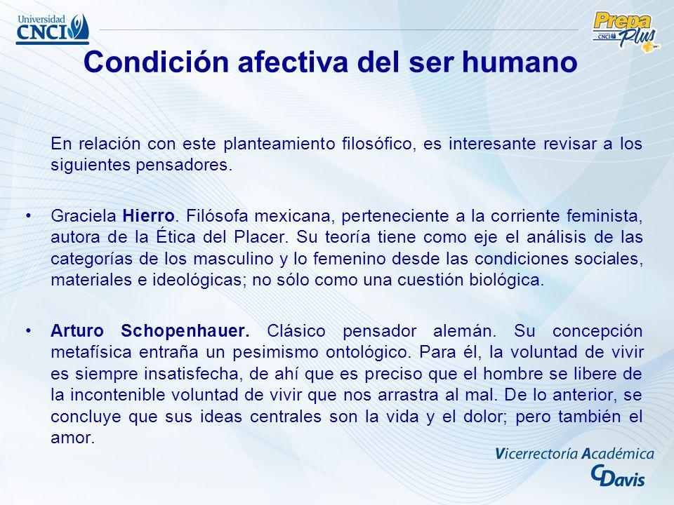 Condición afectiva del ser humano