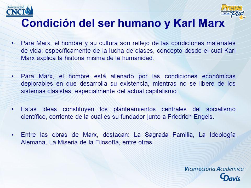 Condición del ser humano y Karl Marx