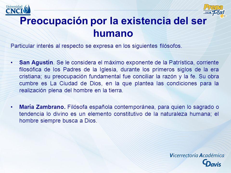 Preocupación por la existencia del ser humano