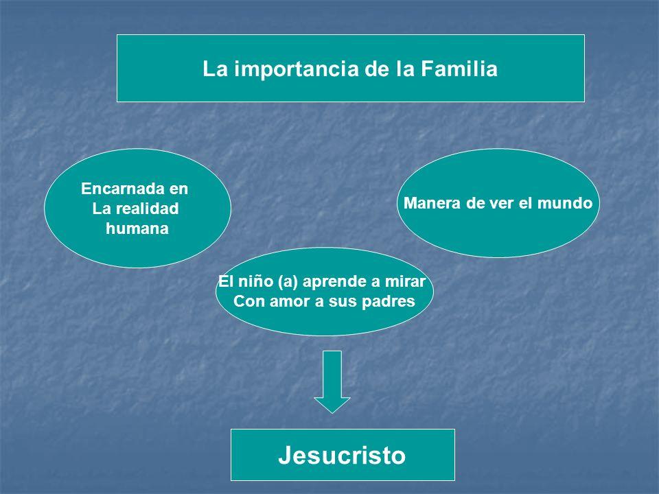 La importancia de la Familia El niño (a) aprende a mirar