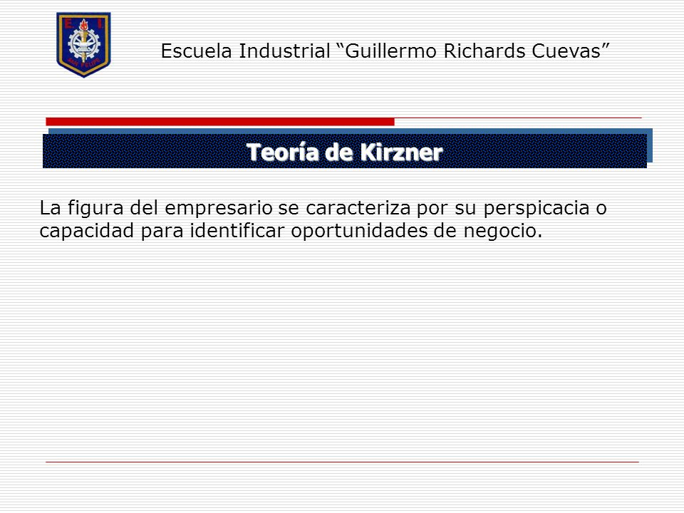 Teoría de Kirzner Escuela Industrial Guillermo Richards Cuevas