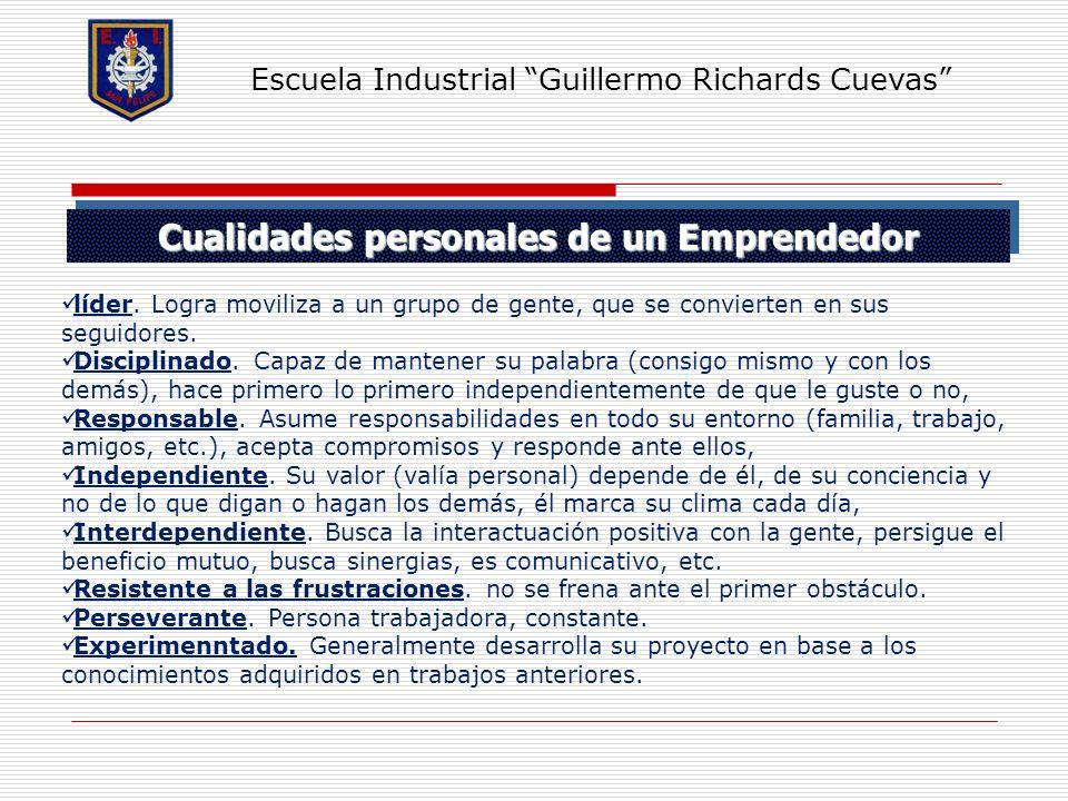 Cualidades personales de un Emprendedor