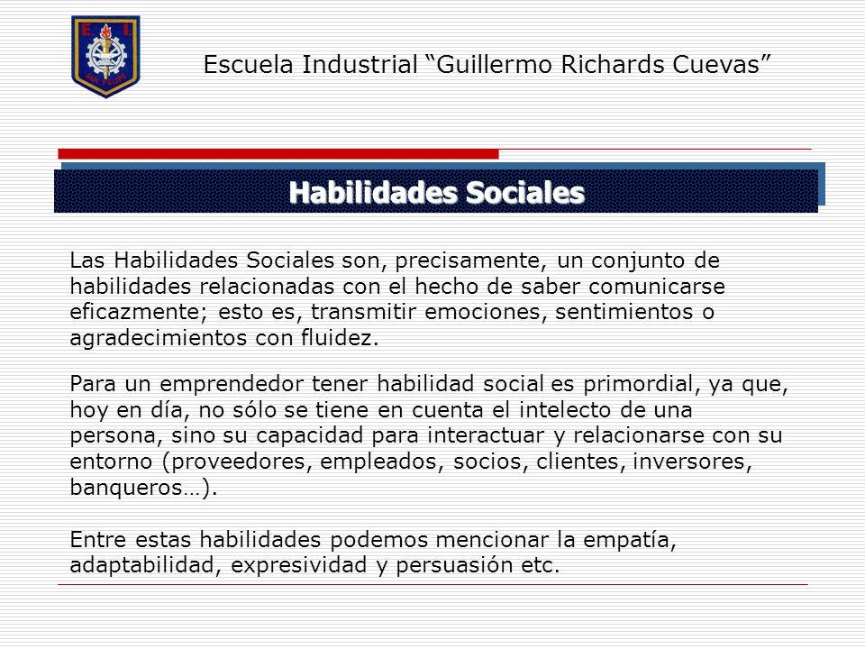 Habilidades Sociales Escuela Industrial Guillermo Richards Cuevas