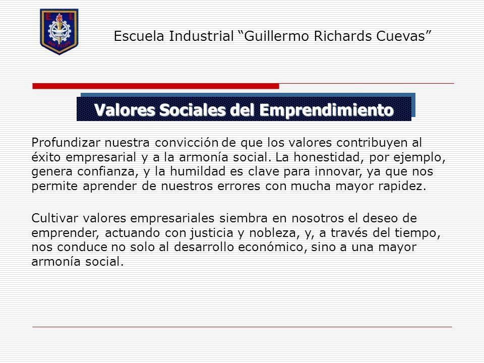 Valores Sociales del Emprendimiento
