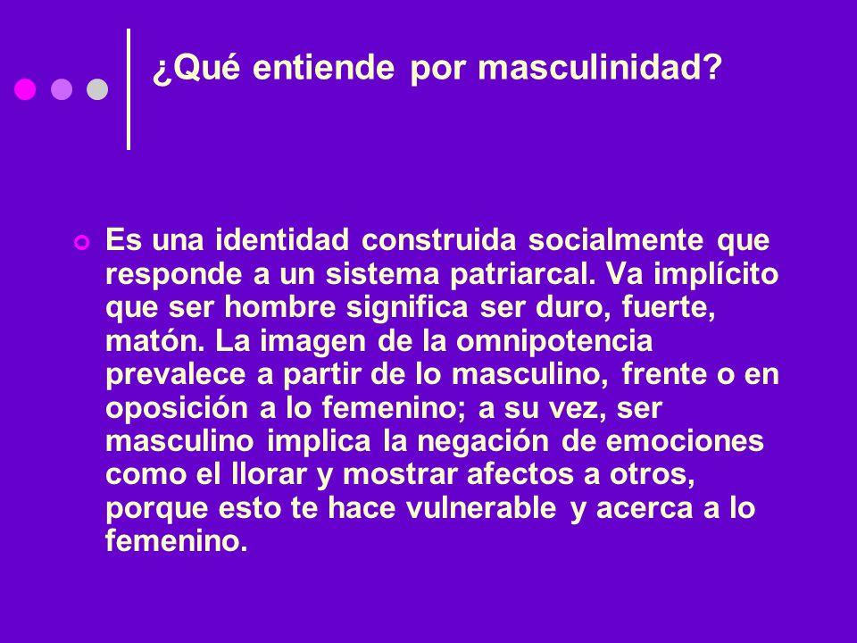 ¿Qué entiende por masculinidad