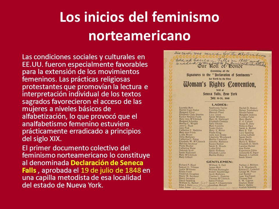 Los inicios del feminismo norteamericano