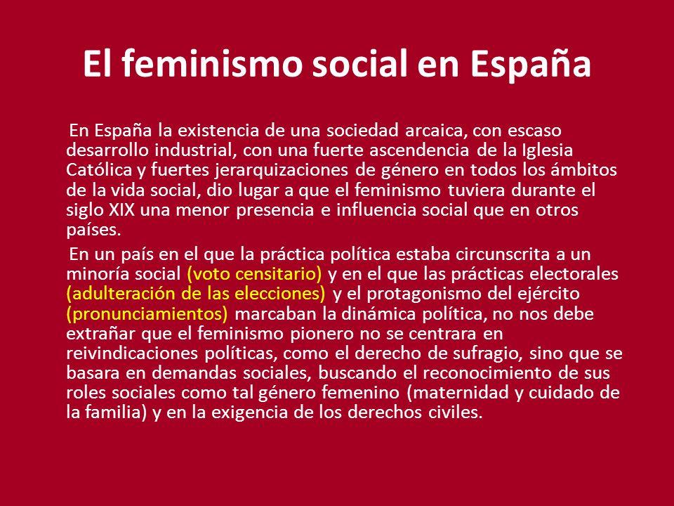 El feminismo social en España