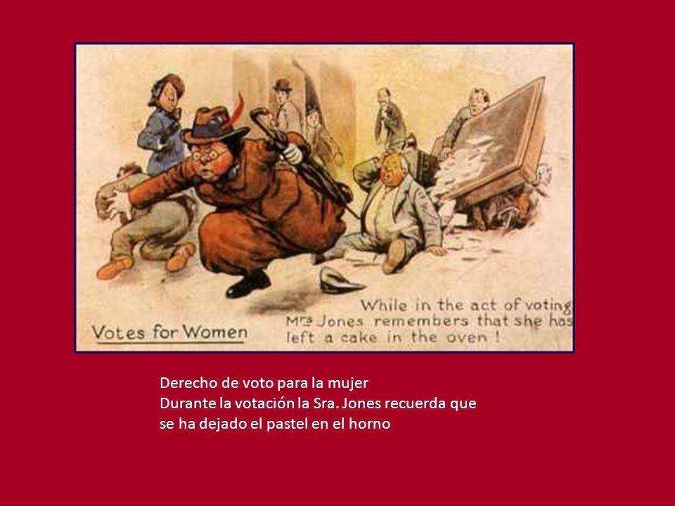 Derecho de voto para la mujer Durante la votación la Sra