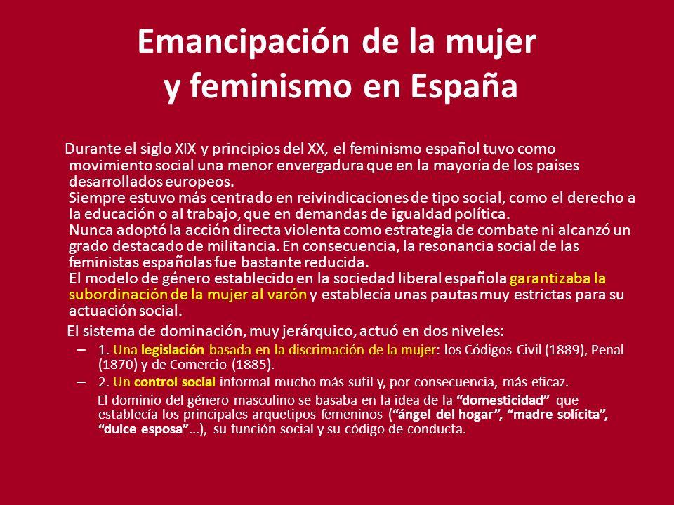 Emancipación de la mujer y feminismo en España