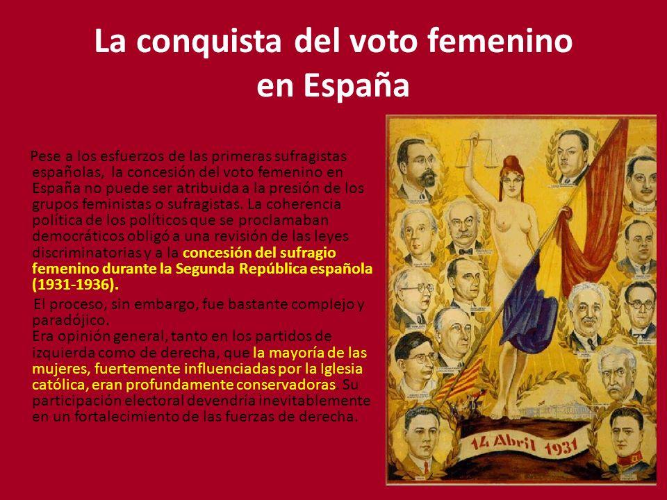 La conquista del voto femenino en España
