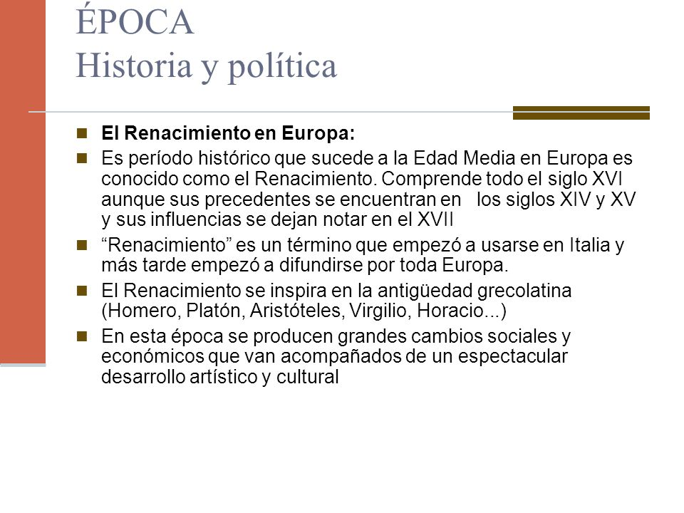 ÉPOCA Historia y política