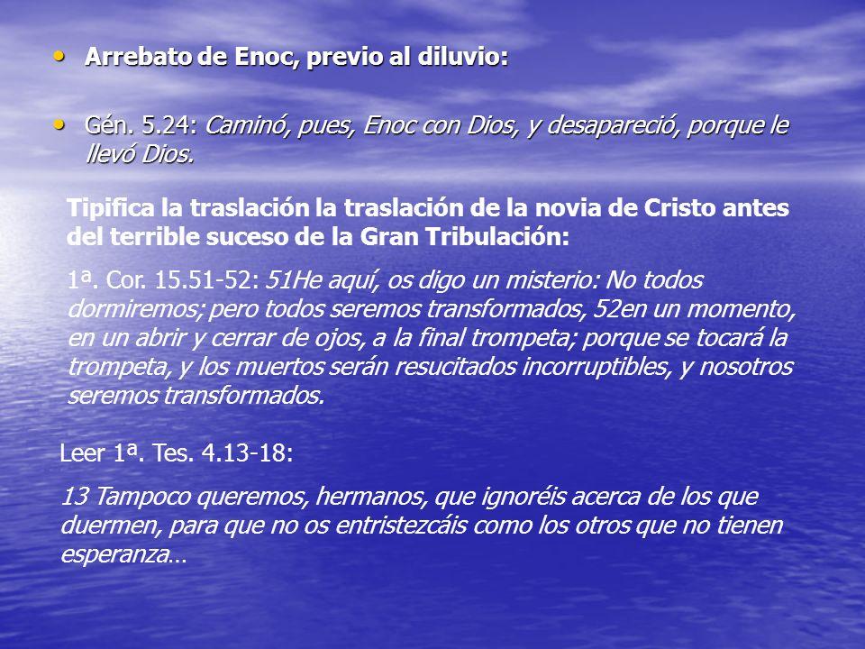Arrebato de Enoc, previo al diluvio: