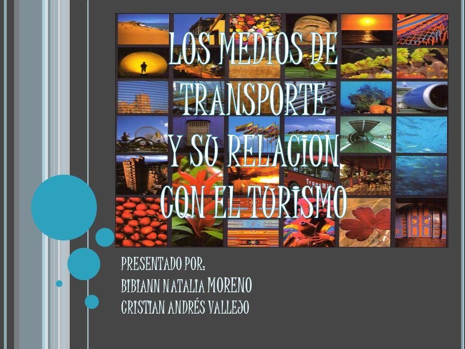 LOS MEDIOS DE TRANSPORTE Y SU RELACION CON EL TURISMO
