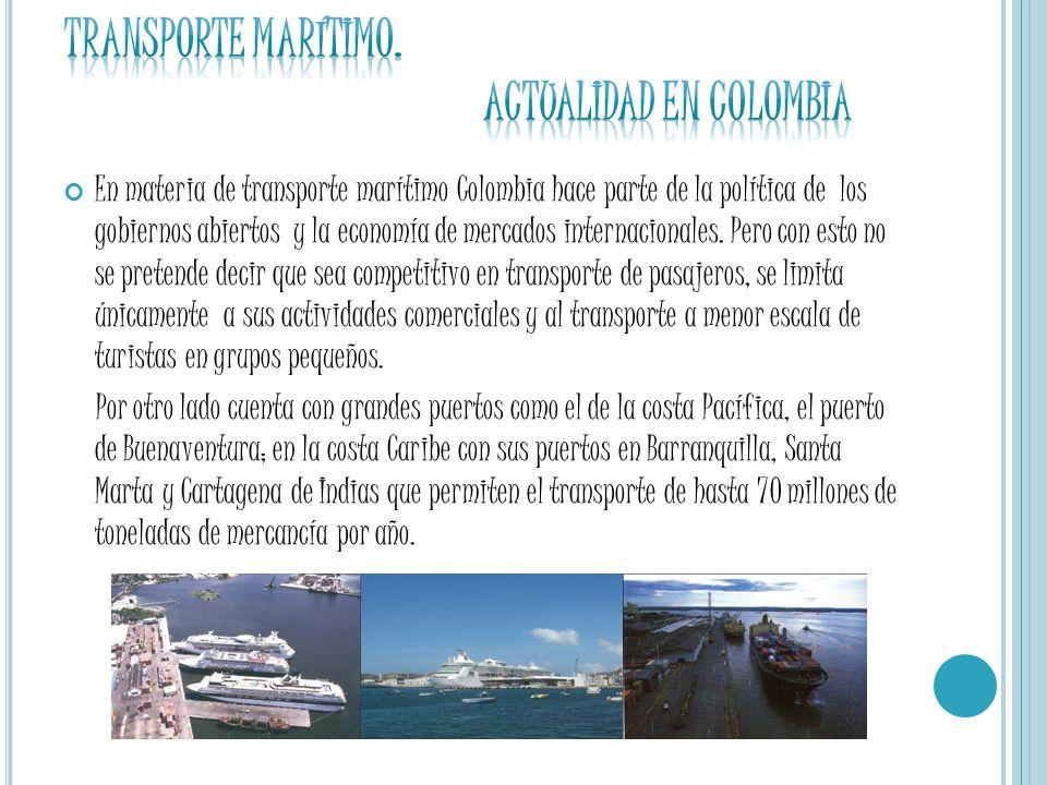 Transporte marítimo. ACTUALIDAD EN COLOMBIA