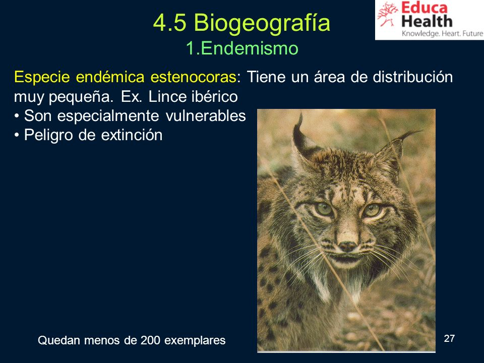 4.5 Biogeografía 1.Endemismo