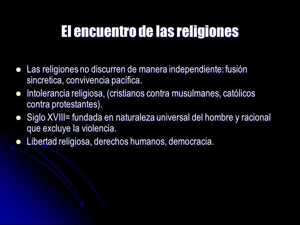 El encuentro de las religiones