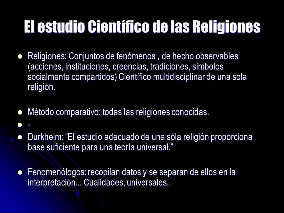 El estudio Científico de las Religiones