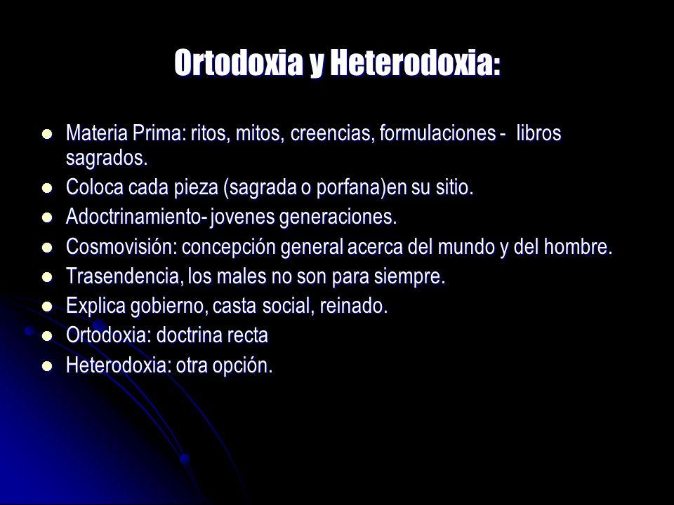 Ortodoxia y Heterodoxia: