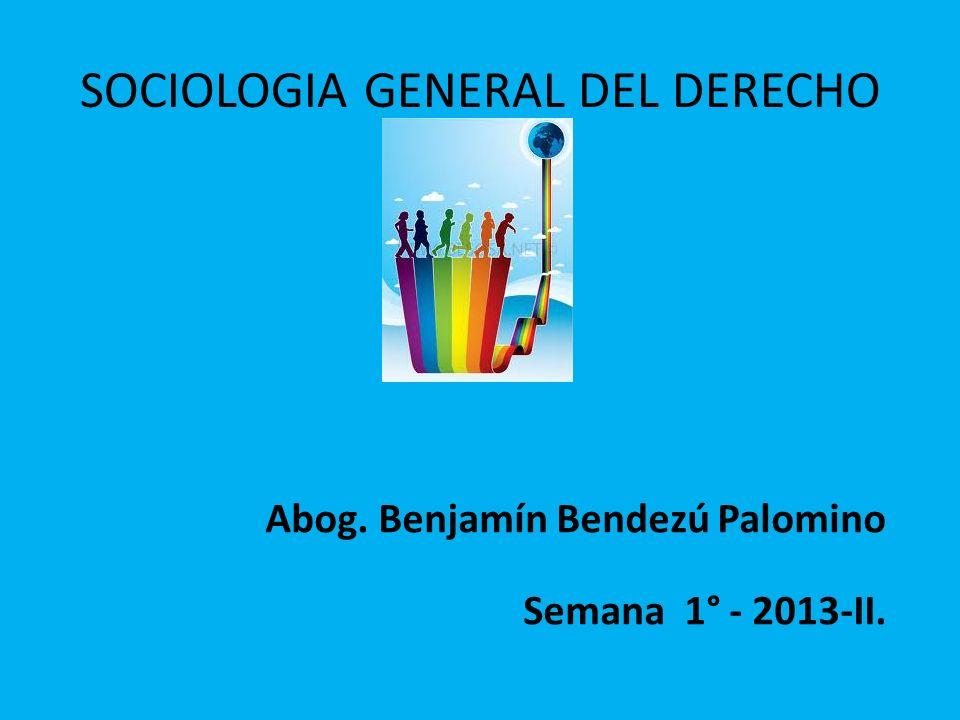 SOCIOLOGIA GENERAL DEL DERECHO
