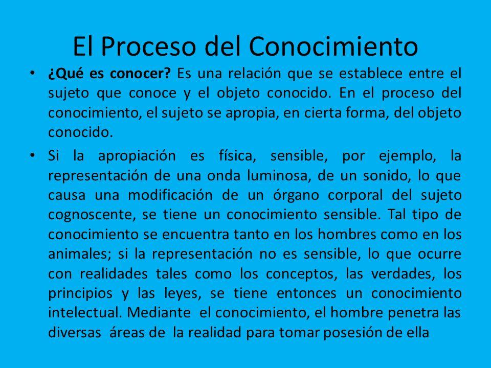 El Proceso del Conocimiento