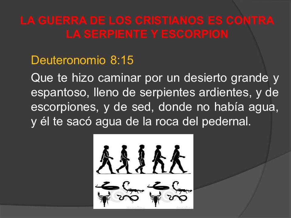 LA GUERRA DE LOS CRISTIANOS ES CONTRA LA SERPIENTE Y ESCORPION