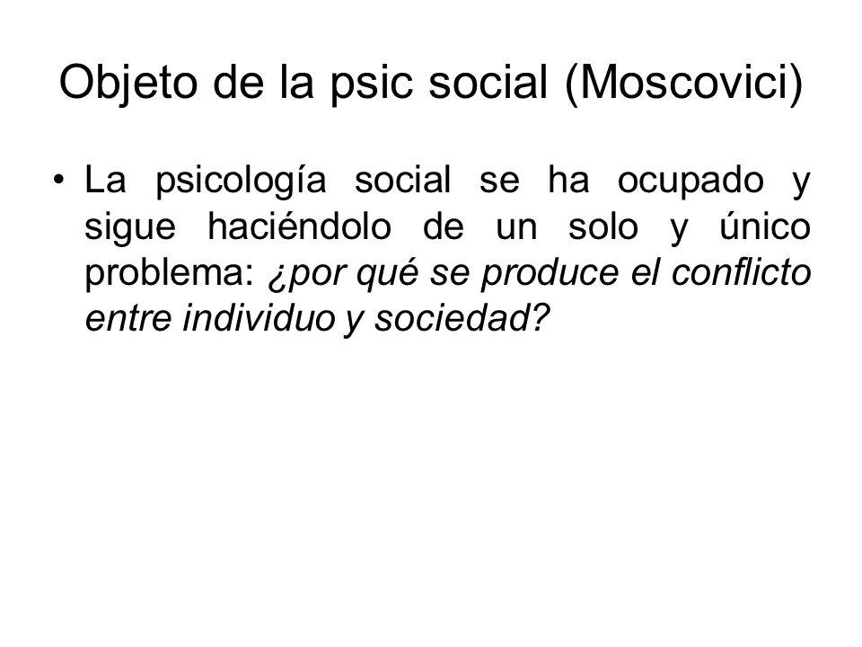 Objeto de la psic social (Moscovici)