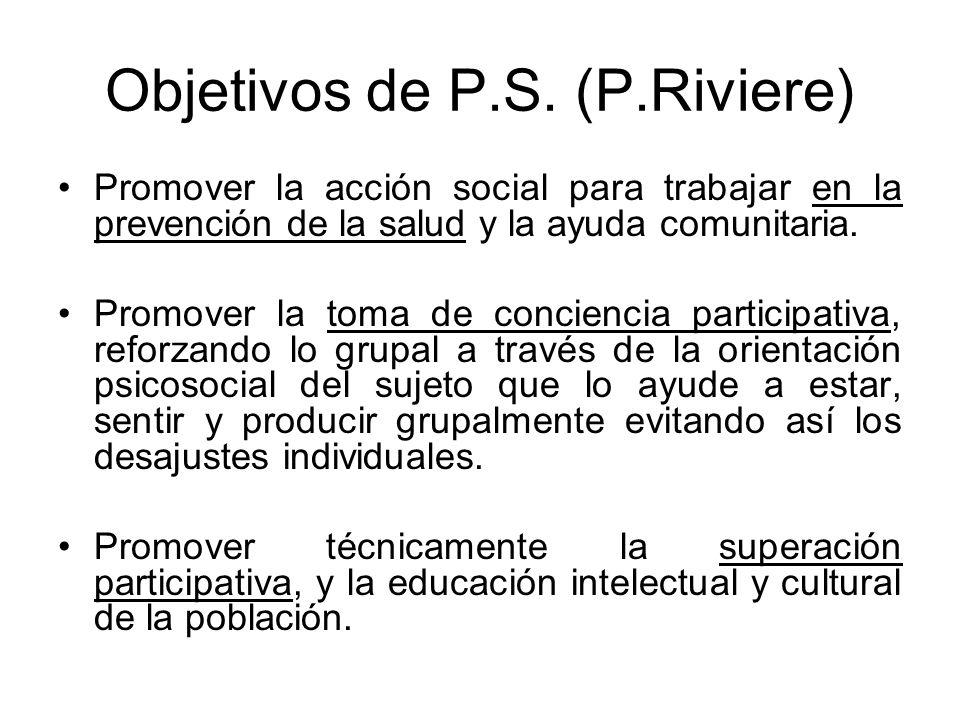 Objetivos de P.S. (P.Riviere)